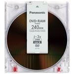 (まとめ)Panasonic 録画用DVD-RAM 9.4GB LM-AD240LA 1枚【×5セット】