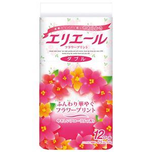 (まとめ)大王製紙 エリエールトイレティシューフラワーW12巻【×5セット】