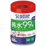 (まとめ)日本製紙クレシア スコッティ ウェットティシュー 本体【×10セット】