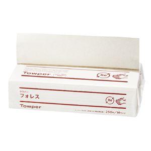(まとめ)トライフ ペーパータオル タウパー フォレス M 250枚【×20セット】
