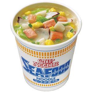 (まとめ)日清食品 カップヌードル シーフード 20食入【×5セット】 - 拡大画像