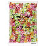 (まとめ)ロッテ 飲料ミックス5 キャンディー 徳用 1kg袋【×30セット】