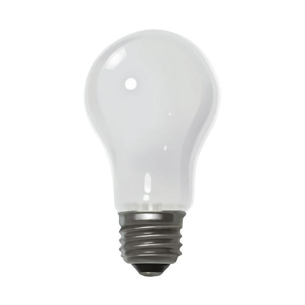 (まとめ)朝日電器 ELPA シリカ電球60形 LW100V57W 白(×50セット)