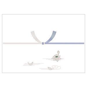 (まとめ)タカ印 のし紙 銀蓮 京 A4判 100枚 2-276(×50セット) - 拡大画像