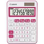 (まとめ)キヤノン ミニ卓上電卓 ピンク LS-105WUC-PK (×30セット)