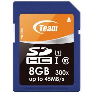 (まとめ)TEAM SDHCカード 8GB TG008G0SD3FT(×10セット) - 拡大画像