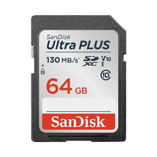 (まとめ)サンディスク SDXCカード 64GB SDSDUW3-064G-JNJIN(×2セット)