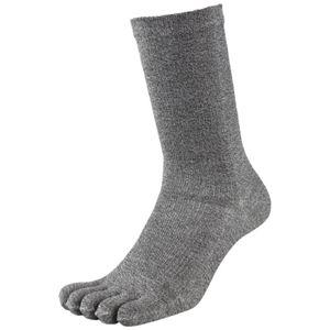 (まとめ)福徳産業 デオセル消臭靴下5本指 モクカラー L 2足組(×30セット) - 拡大画像
