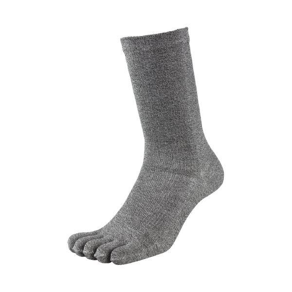 (まとめ)福徳産業 デオセル消臭靴下5本指 モクカラー L 2足組(×10セット)