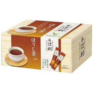 (まとめ)片岡物産  辻利 インスタントほうじ茶 0.8g×100本(×20セット) - 拡大画像