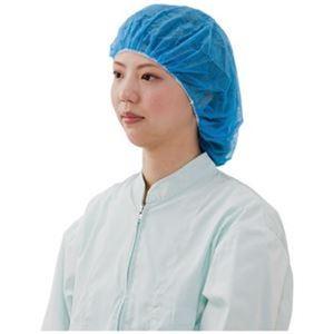 (まとめ)川西工業 不織布ヘアキャップ#7047 ブルー 100枚入【×5セット】 - 拡大画像