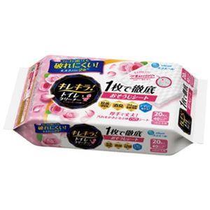(まとめ)大王製紙 キレキラ!トイレクリーナー ローズ詰替20枚【×30セット】 - 拡大画像