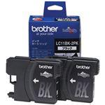 (まとめ)ブラザー インクカートリッジ LC11BK-2PK 黒2個【×3セット】