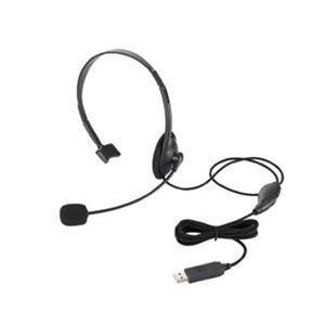 (まとめ)エレコム USB片耳オーバーヘッド HS-HP21UBK【×5セット】 - 拡大画像