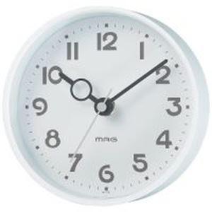 (まとめ)ノア精密 MAG 掛置兼用時計 フックプット W-752WH-Z ホワイト【×5セット】 - 拡大画像