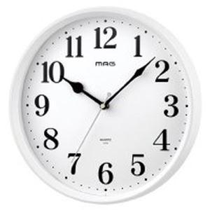 (まとめ)ノア精密 MAG掛時計 ミドル W-740WH-Z【×10セット】 - 拡大画像