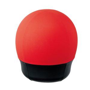 CMC スツール型バランスボール/オフィスチェア 【タイヤタイプ】 レッド(赤) BC-S RE タイヤ