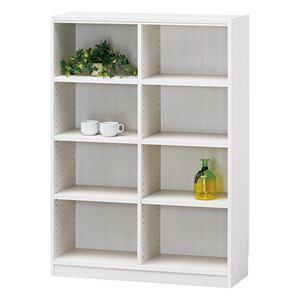 白井産業 木製棚タナリオ TNL-1287 ホワイト