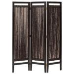 パーテーション(スクリーン) グランツシリーズ 3連 木製 高さ150cm アジアン風 ブラウン