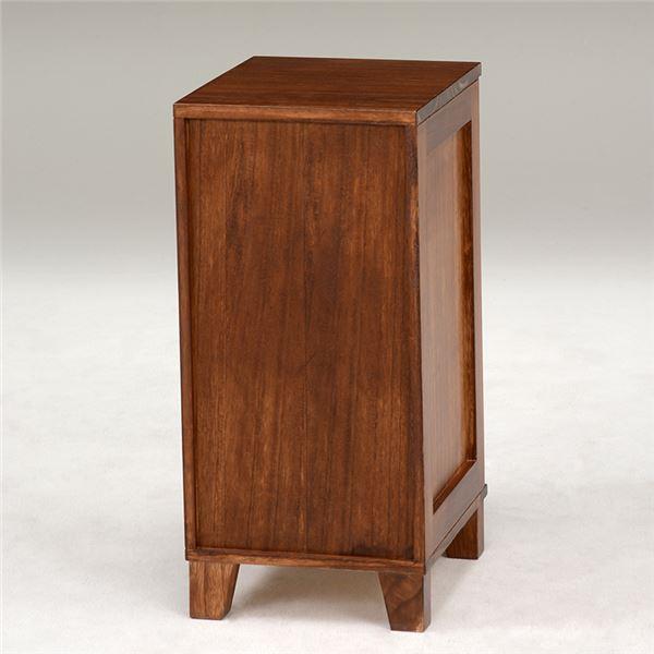 書類チェスト/リビングチェスト 【5段】 木製/桐 幅28cm ネーム入れ付き ブラウン2