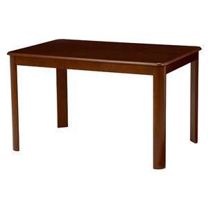 ダイニングテーブル 【長方形/ブラウン】 木製 天板:オーク突板 幅120cm×奥行80cm 木目調