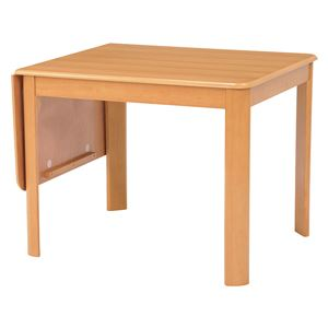 伸長式ダイニングテーブル/バタフライテーブル 【長方形/ナチュラル】 幅93/135cm 木製 丸角  - 拡大画像