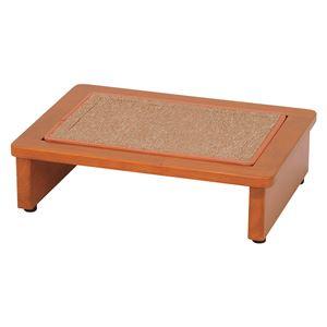 玄関踏み台/ステップ 【幅45cm】 木製 マット/アジャスター付き  - 拡大画像