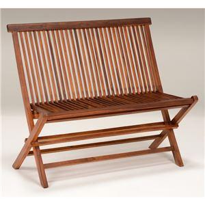 ガーデンベンチチェア 【折りたたみ可】 幅101cm 木製/チーク材