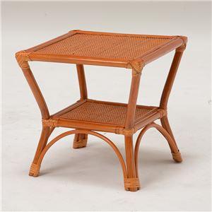 籐テーブル/ローテーブル 【正方形/幅41cm】 木製 アジアンテイスト ナチュラル  - 拡大画像
