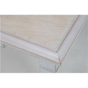 アンティーク調リビングこたつテーブル 本体 【長方形/幅105cm】 木製 引き出し付き シャビーシック  f04