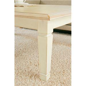 アンティーク調リビングこたつテーブル 本体 【長方形/幅105cm】 木製 引き出し付き シャビーシック  f05
