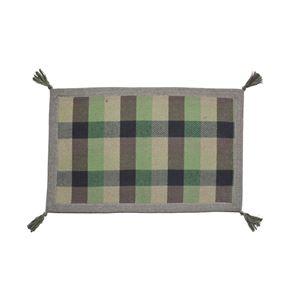 インド綿ウール混ボンディングマット メルモ 50cm×80cm グリーン