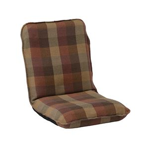 モダン 座椅子/パーソナルチェア 【Mサイズ オレンジ】 幅47cm 14段リクライニング インド綿 ウール混 『メルモ』