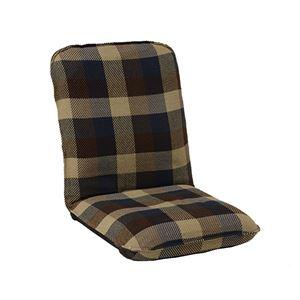 モダン 座椅子/パーソナルチェア 【Mサイズ ブルー】 幅47cm 14段リクライニング インド綿 ウール混 『メルモ』