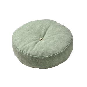 インド綿 フロアラウンドクッション 【ライトグリーン】 45R×12cm 円形 綿100%カバー 〔リビング ベッドルーム〕 - 拡大画像
