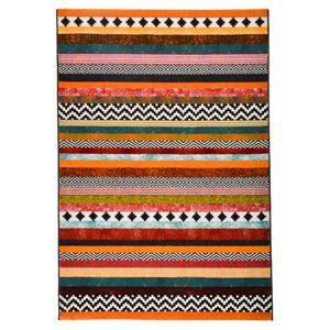 モダン ラグマット/絨毯 【ボーダー柄 140cm×200cm】 長方形 スペイン製 ウィルトン 『PANDRA』 - 拡大画像