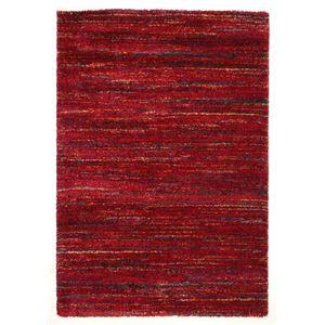 ベルギー ラグマット/絨毯 【140cm×200cm レッド】 長方形 高耐久 ウィルトン 『SHERPA COSY』 〔リビング〕 - 拡大画像