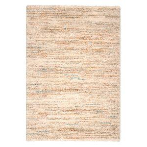 ベルギー ラグマット/絨毯 【140cm×200cm アイボリー】 長方形 高耐久 ウィルトン 『SHERPA COSY』 〔リビング〕 - 拡大画像
