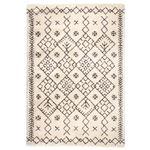 民族調 ラグマット/絨毯 【160cm×230cm アイボリー】 長方形 ウィルトン 『ROYAL NOMADIC ロイヤルノマディック モロッコ』