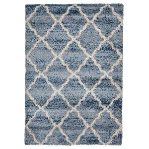 北欧風 ラグマット/絨毯 【160cm×230cm モロッコ】 長方形 高耐久 ウィルトン 『QUEEN クィーン』 〔リビング〕