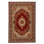 クラシック調 ラグマット/絨毯 【240cm×340cm レッド】 長方形 洗える 折りたたみ ウィルトン 『シャハリヤ』