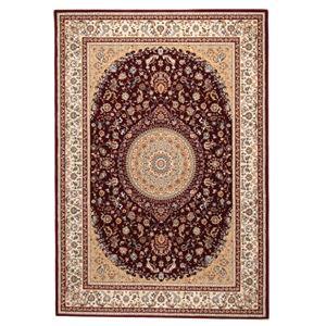 ウィルトン織 ラグマット/絨毯 【200cm×250cm レッド】 長方形 トルコ製 高耐久 『ローサマルカンド』 〔リビング〕 - 拡大画像