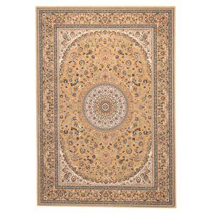 ウィルトン織 ラグマット/絨毯 【200cm×250cm ベージュ】 長方形 トルコ製 高耐久 『ローサマルカンド』 〔リビング〕 - 拡大画像