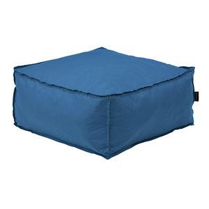 圧縮ソファー/クッション 1人掛け 【ブルー】 幅60×奥行60×高さ28×座面高28cm 圧縮ウレタン 〔リビング ダイニング〕 - 拡大画像