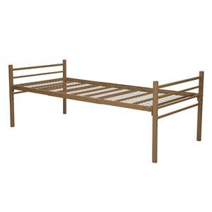 シンプル ロングベッド シングル (フレームのみ) キャラメルブラウン 幅約100cm 組立式 ベッドフレーム - 拡大画像