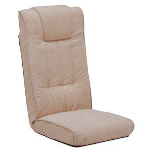 (まとめ)座椅子 ベージュ 【×4台セット】 ベージュ LZ-4266BE - 拡大画像