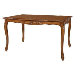 ダイニングテーブル/食卓テーブル 【ブラウン 幅175cm】 木製 開梱設置サービス付 〔リビング ショップ〕 - 拡大画像