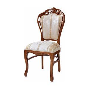 ダイニングチェア/食卓椅子 【ブラウン 幅47×奥行61cm】 木製脚付き ポリエステル 〔リビング〕 - 拡大画像
