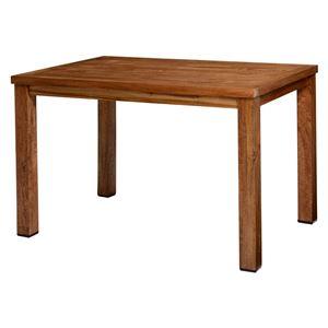 木目調 ダイニングテーブル/食卓テーブル 【幅120cm】 木製 マンゴー 組立品 〔リビング 店舗 カフェ〕 - 拡大画像