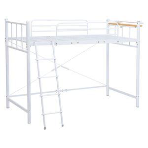 ロフトベッド/寝具 【ホワイト 高さ151.5cm シングル】 約幅97cm スチール 組立品 KH-3921WH 【ハンガーポール別売】 - 拡大画像